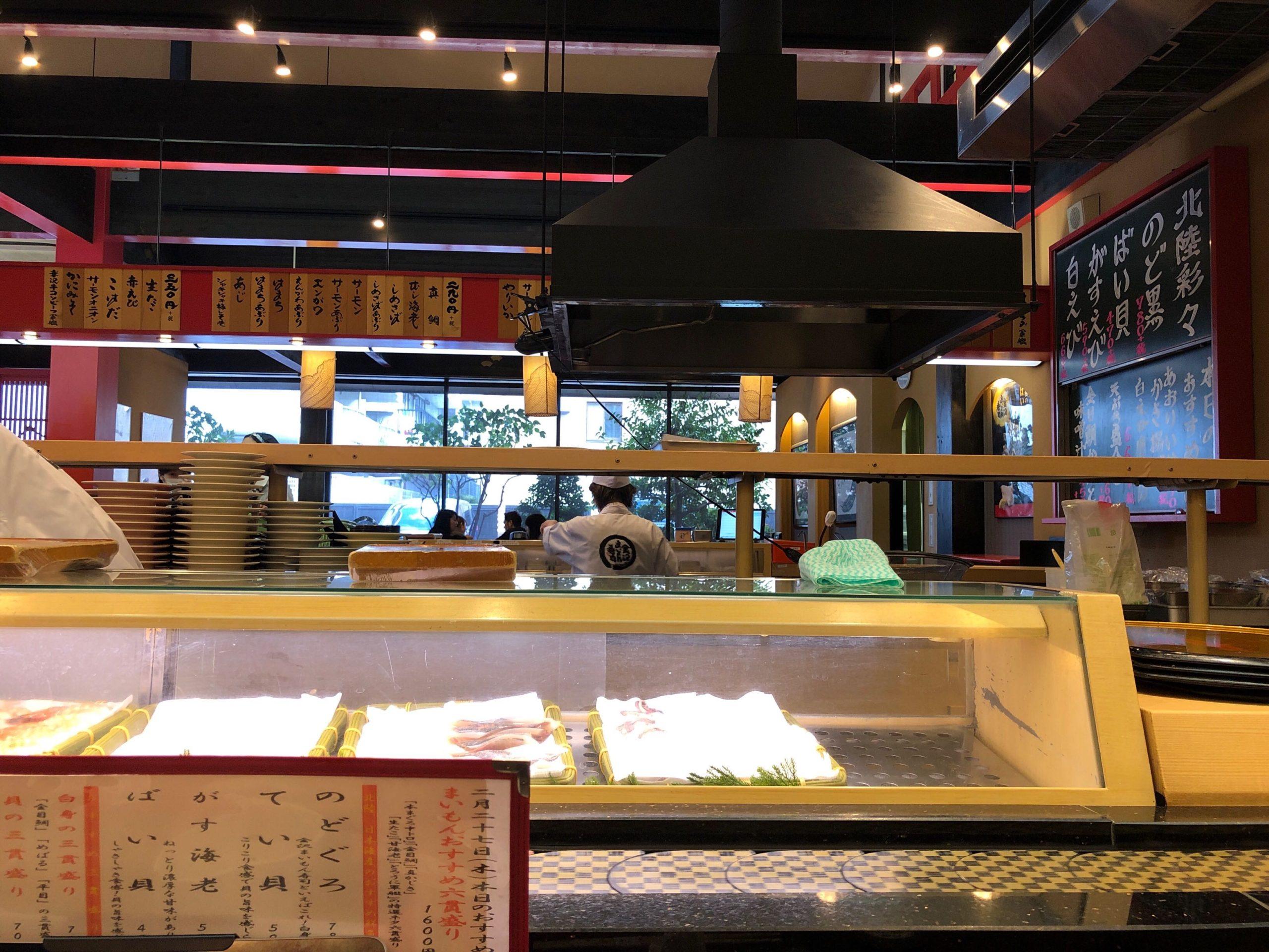 金沢まいもん寿司の内観