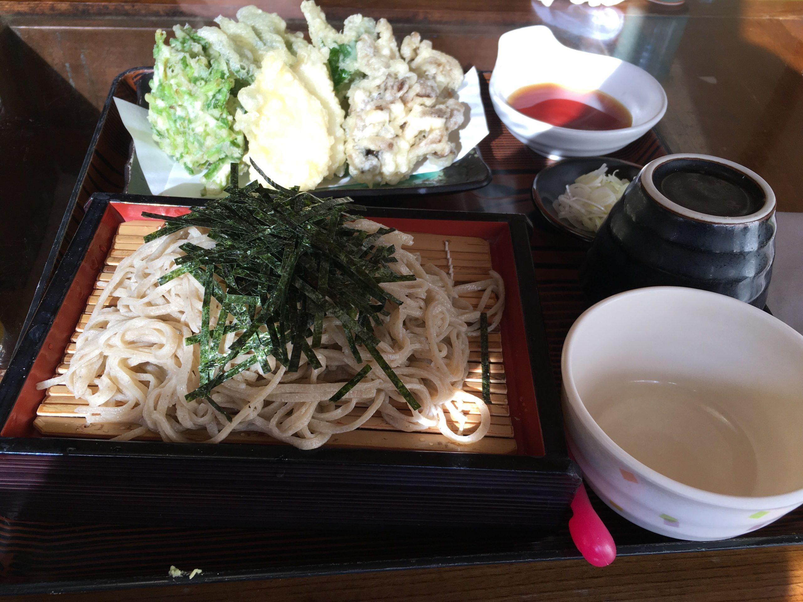 鹿沼そば大越路のそばと天ぷらセット