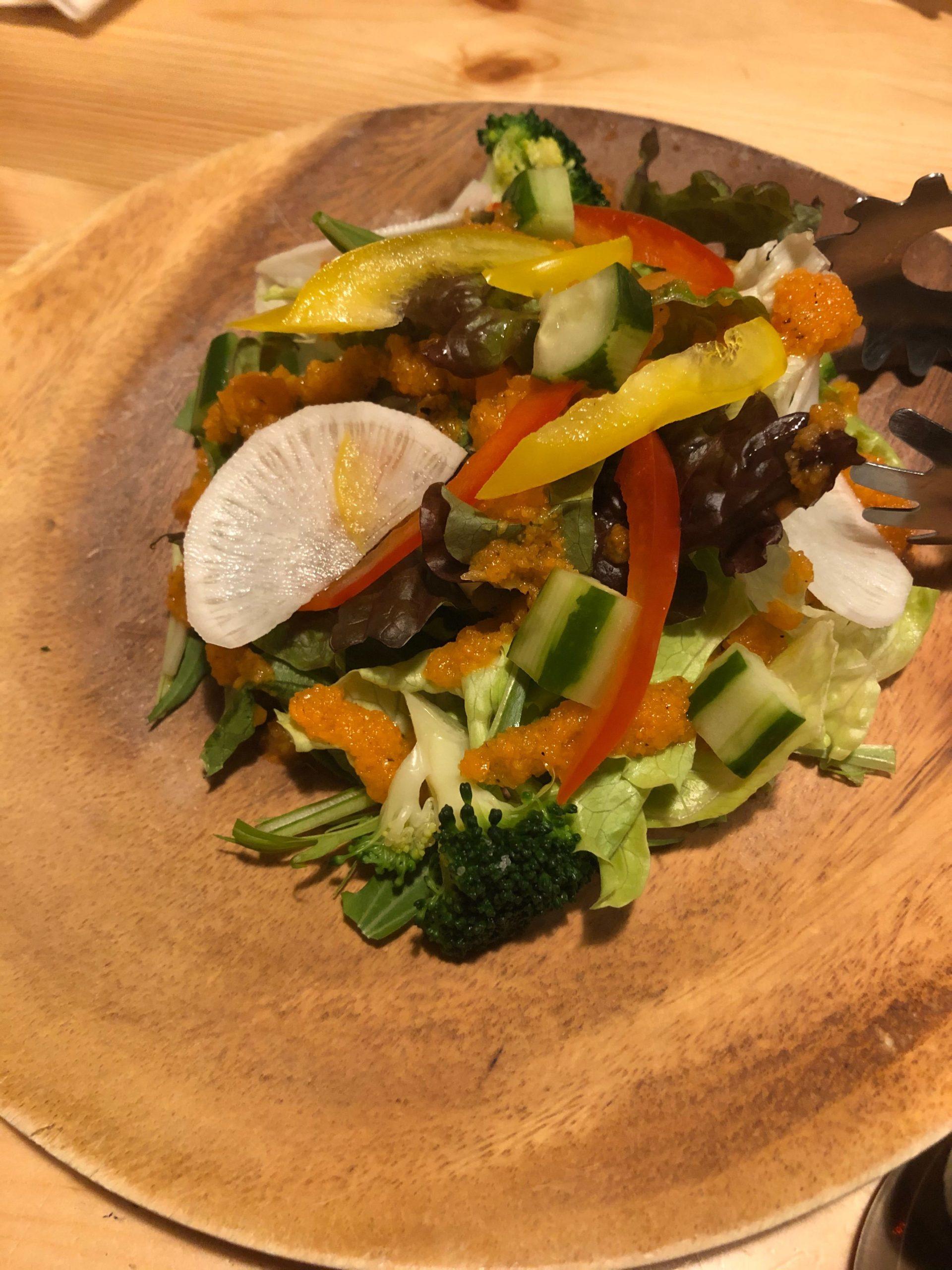 イタリアンロッジテンのサラダ